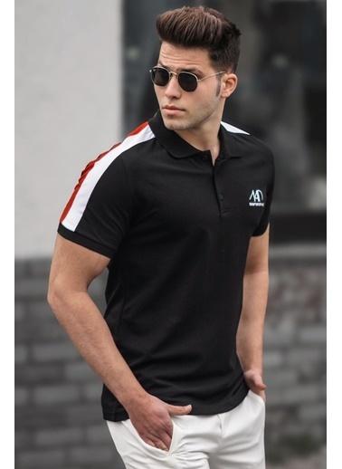 Madmext   Polo Yaka Erkek Tişört 5215 Siyah